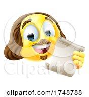 Poster, Art Print Of Shakespeare Poet Emoticon Emoji Cartoon Face Icon