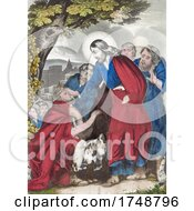 Scene Of Christ Restoreth The Blind Where Jesus Heals The Vision Of Bartimaeus