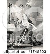 Saint Rita Of Cascia Margherita Lotti With Partial Stigmata