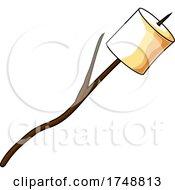 Cartoon Marshmallow On A Stick