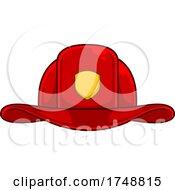 Poster, Art Print Of Cartoon Fire Department Helmet
