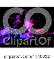 Poster, Art Print Of 3d Colourful Techno Plexus Design Background