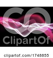 Poster, Art Print Of 3d Network Communications Background With Flowing Particles
