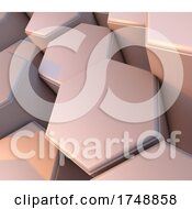 Poster, Art Print Of 3d Abstract Web Background With Bevelled Extruding Hexagons