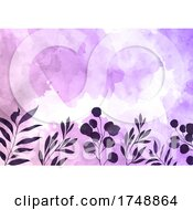 Poster, Art Print Of Decorative Floral Watercolour Background