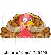 Poster, Art Print Of Turkey Thanksgiving Or Christmas Cartoon Character