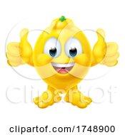 Lemon Fruit Cartoon Emoticon Emoji Mascot Icon