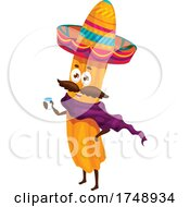Poster, Art Print Of Mexican Churro Mascot