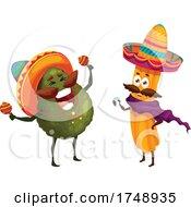 Poster, Art Print Of Mexican Avocado And Churro Mascots