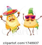 Poster, Art Print Of Mexican Tortilla Chip Mascots