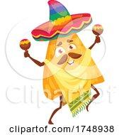 Poster, Art Print Of Mexican Tortilla Chip Mascot