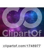 Poster, Art Print Of Nebula Background