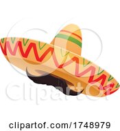 Poster, Art Print Of Sombrero With A Mustache