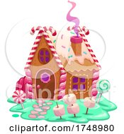 Gingerbread House With Candy Yard