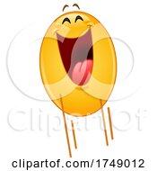 Poster, Art Print Of Happy Jumping Yellow Emoji Smiley