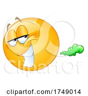 Poster, Art Print Of Farting Yellow Emoji Smiley