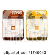 Blank Bingo Tropical Cards Cut Out