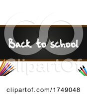 Poster, Art Print Of Back To School Blackboard Panel On White