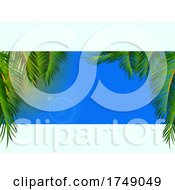Panel With Sky And Palm Trees