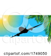 Summer Travel Panel With Airplane