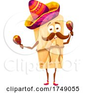 Poster, Art Print Of Mexican Tamale Playing Maracas