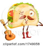 Poster, Art Print Of Taco Holding A Guitar