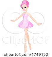 Woman In A Sparkly Pink Dress