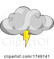 Poster, Art Print Of Cloud With Lightning