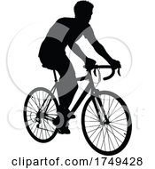 Poster, Art Print Of Bike Cyclist Riding Bicycle Silhouette