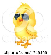 Poster, Art Print Of Cool Easter Baby Chick Chicken Bird In Sunglasses
