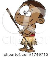 Cartoon Tahitian Boy