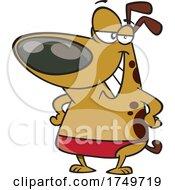 Cartoon Dog In A Speedo