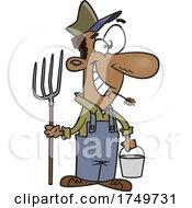 Cartoon Happy Farmer by toonaday