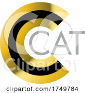 Gold And Black Letter C CAT