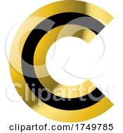 Gold And Black Letter C
