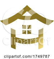 House Icon In Gold