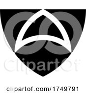 Abstract Shield Icon Black And White