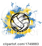 Grungy Volleyball Design