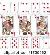 Playing Cards Diamonds Yellow Red Blue And Black