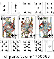 Playing Cards Spades Yellow Red Blue And Black