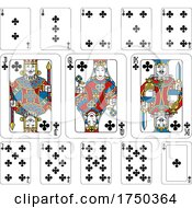 Playing Cards Clubs Yellow Red Blue And Black