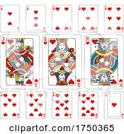 Playing Cards Hearts Yellow Red Blue And Black