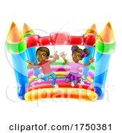 Bouncy House Castle Jumping Girl Boy Kids Cartoon