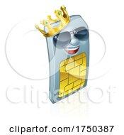 Sim Card Cool King Mobile Phone Cartoon Mascot