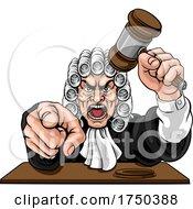 Angry Judge Cartoon Character