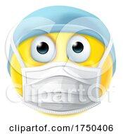 Emoticon Emoji PPE Doctor Nurse Medical Mask Icon by AtStockIllustration