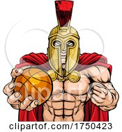 Spartan Trojan Basketball Sports Mascot