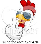 Poster, Art Print Of Chicken Rooster Cockerel Bird Sunglasses Cartoon
