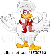 Poster, Art Print Of Chef Chicken Rooster Cockerel Perfect Cartoon