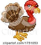 Poster, Art Print Of Turkey Pixel Art Retro Arcade Video Game Cartoon